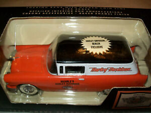 SpecCast #99209-95V Harley Davidson Mahrle's 55 Chevy Sedan Delivery Bank 1:25