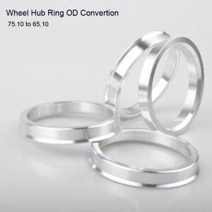 4 pcs Wheel Spacer alloy spigot center hub ring Wheel hub ring 75.1 mm - 65.1 mm