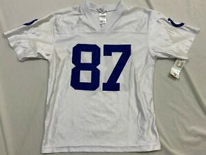 M36 FLAWED NFL Indianapolis Colts Reggie Wayne White Jersey Youth L 14-16