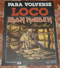 IRON MAIDEN PIECE OF MIND SPANISH MAGAZINE ADVERT 1983 PROMO AD