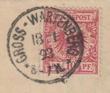 30191) GROSS-WARTENBERG Schlesien 1893 Brief mit Inhalt nach Namslau