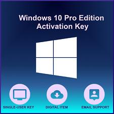 Win 10 Pro Activation Code Lifetime Use 64-bit No Disc