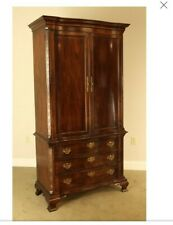 Henredon Chippendale George III Style Tall Mahogany Bedroom Armoire Chest