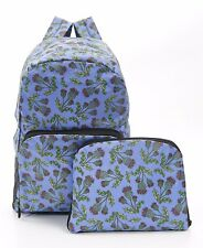Thistle print Expandable Backpack/Rucksack holds 15kg max ECO CHIC