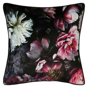 Velvet Filled Cushion Pillow Soft Arthouse Blush Floral Pink Cherry Blossom 45cm