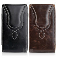 Vertical Leather Carrying Pouch Case Cover Belt Clip Holster for iPhone/Samsung