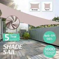 300D Khaki Schwerlast Schirm Segel Sonne Außen Garten Terrasse Markise Haube UV