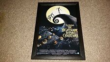 """THE NIGHTMARE BEFORE CHRISTMAS PP SIGNED FRAMED A4 12""""X8"""" POSTER TIM BURTON"""