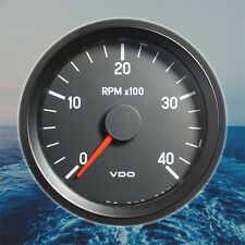 "VDO Rev-Counter Tachometer Gauge 4000 RPM 80mm 3.1"" 12V 333-035-002G"