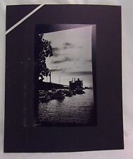 16X20 Original B&W Print Photograph Matted people Port Jefferson Interior Signed
