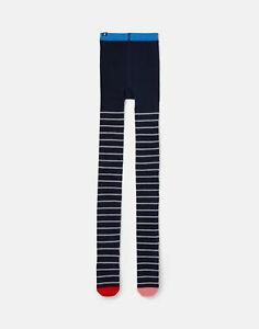 Joules Girls Partykins Sparkle Tights - Navy Stripe