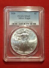 2018 American Silver Eagle PCGS Certified MS 69 1 oz .999 silver coin