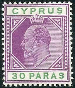 Cyprus SG63a 30pa Violet and Green wmk Mult CA M/M Cat 30 pounds