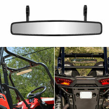 "UTV Wide 15"" Rear View Mirror 1.75"" Clamp For Polaris RZR 800 1000 XP 900 1000 S"