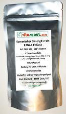 500 Vegi Tabletten Koreanischer Ginseng - PANAX Extrakt - 1300mg - HOCHDOSIERT