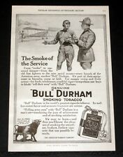 1917 OLD MAGAZINE PRINT AD, BULL DURHAM TOBACCO, THE SMOKE OF THE AIR SERVICE!