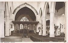 Suffolk Postcard - East Bergholt Church - Interior    SL886