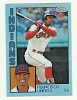 2019 Topps Chrome 1984 RETRO #84TC-16 FRANCISCO LINDOR Cleveland Indians