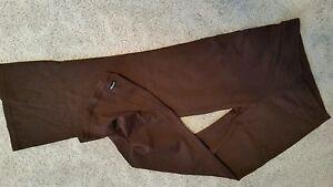 Athleta brand brown nylon /lycra fitness pants size S /P euc