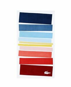 "Lacoste Beach/swim Towels 36""x72"" stripped multi color NEW"