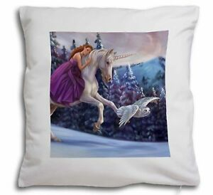 Magical Unicorn, Owl & Fairy Soft Velvet Feel Cushion Cover with Pillow UC-3-CPW