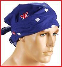 AUSTRALIA Flag BLUE BANDANA 54x54cm Aussie Souvenir Commonwealth Olympic ~ Chemo