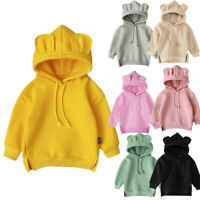 Winter Toddler Baby Kids Boy Girl Hooded Cartoon Hoodie Sweatshirt Tops Clothes