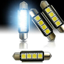 4x Super White 42mm 4 SMD LED 212-2 578 6429 Festoon Dome Interior Light Bulb