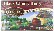 Celestial Seasonings Herb Tea, Black Cherry Berry, 20-Count Tea Bags (Pack of 6)