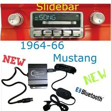 1964 65 66 Mustang New Slidebar Radio & Bluetooth Kit USB ipod RDS