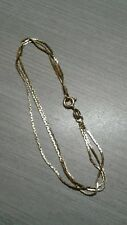 """18k yellow gold bracelet, 3 strands, 7"""" long, 3.6g weight. Great condition"""