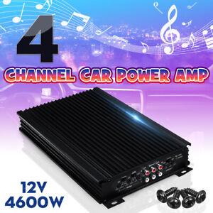 4500W Car Stereo Audio Power Amplifier 4-Channel Super Bass Subwoofer Amp 12V UK