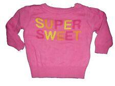 C & A toller leichter Strick Pullover Gr. 62 rosa mit Schriftzug !!