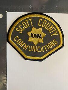 SCOTT COUNTY IOWA COMMUNICATIONS PATCH