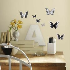 RoomMates RMK2996SCS 3D Butterflies Peel And Stick Wall Decals