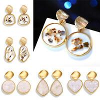 Fashion Shell Acrylic Korean Earrings Women Resin Drop Dangle Ear Stud Geometric