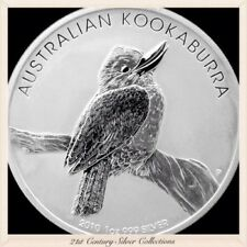 2010 Australian Kookaburra 1oz 999 Silver Dollar Coin
