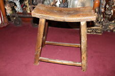 Antique Country Farm Barn Stool Cow Milking Bench-Aged Patina Country Decor