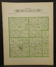 Oklahoma Woodward County Map Union Township  1910  !R6#23