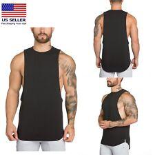 Men Gym Muscle Singlets Workout Tank Top,Bodybuilding Fitness Sleeveless T-shirt