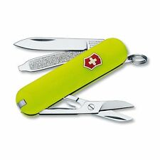 Victorinox Stayglow Classic SD Pocket Knife 6 Features Fluorescent Yellow Handle