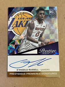 D'Angelo Russell 2015-16 Panini Prestige ON CARD Autograph Auto RC /25