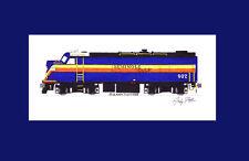 "Seminole Gulf F-Unit HEP Car #502 11""x17"" Matted Print Andy Fletcher signed"