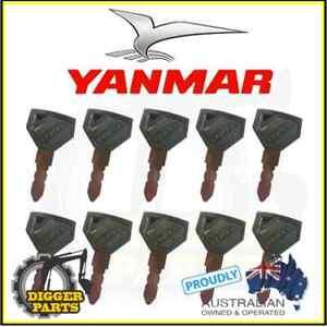 YANMAR excavator keys 52160 (newer Yanmar excavator models) (set of 1-10)