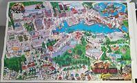 UNIVERSAL STUDIOS FLORIDA SOUVENIR MAP VINTAGE 1990 ET JETSONS FLORIDA