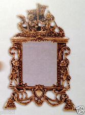 STANDSPIEGEL SCHMINKSPIEGEL Messing Gold Kosmetikspiegel 25x17Antik  9x13cm