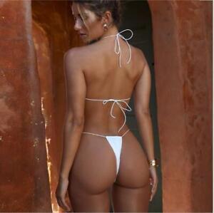 Sexy Flirtzy Teeny Micro Mini Thong and String Top Bikini Brazilian Swimwear Min