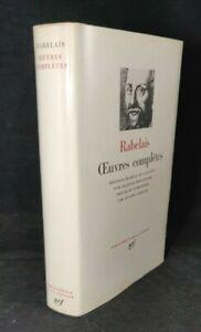 Bibliothèque de la PLEIADE - RABELAIS - Oeuvres complètes - 1970 - emboîtage