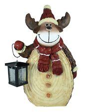 """Weihnachtsdekoration Figur Elch """"Rene"""" mit Laterne Weihnachtsmann Gartenfigur"""