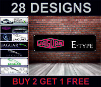 Jaguar E-Type Banner per Officina,Garage,Concessionario,Meccanico